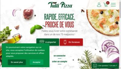 Site internet de Tutti Pizza