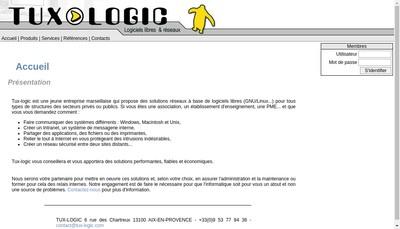 Site internet de Tux - Logic