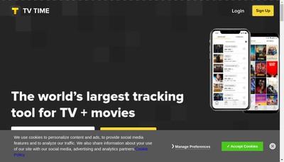 Site internet de Tv Show Time , Toze Labs