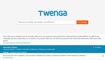 Site internet de Twenga