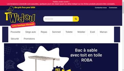 Site internet de Twidou