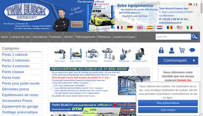 Site internet de Twin Busch France