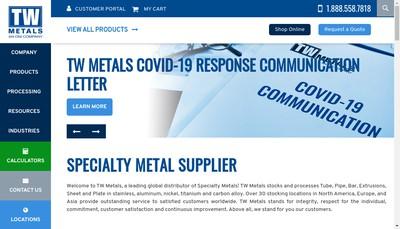 Site internet de Tw Metals