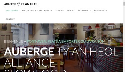 Site internet de Auberge Ty An Heol
