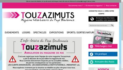 Site internet de Touz'Azimuts
