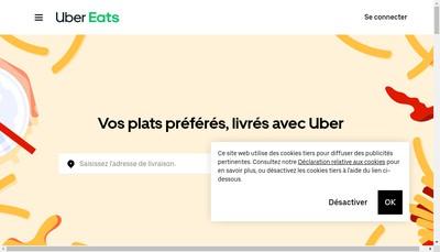 Site internet de Ubert Eats