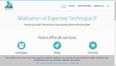 Site internet de Ubik Ingenierie