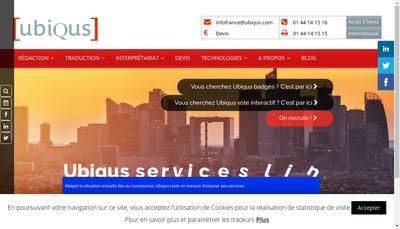 Site internet de Ubiqus Labs