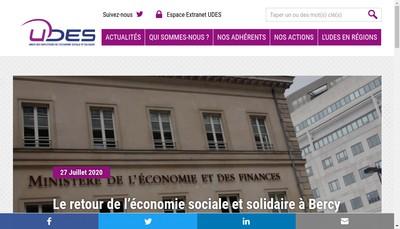 Site internet de Union des Employeurs de l'Economie Sociale et Solidaire