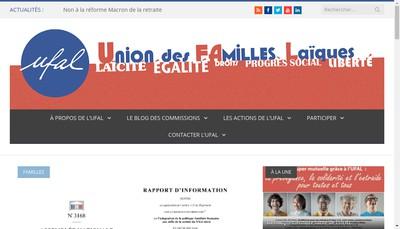 Site internet de Union des Familles Laiques