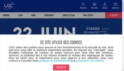 Site internet de Ugc Distribution