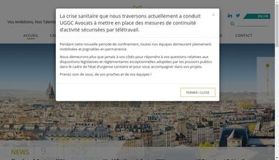 Site internet de Uggc Avocats