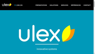 Site internet de Ulex Innovative Systems