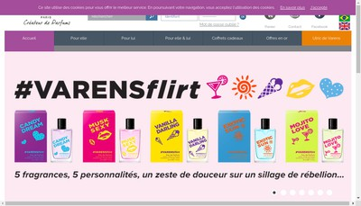Site internet de Parfums Ulric de Varens SA