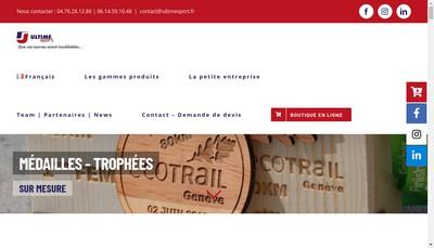 Site internet de Ultime Sport