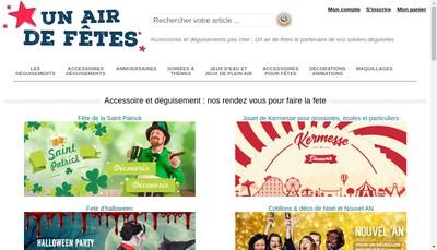 Site internet de Un Air de Fetes SARL