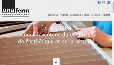 Site internet de Unaferm