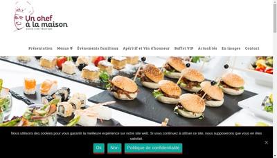 Site internet de Un Chef a la Maison un Chef au Bureau