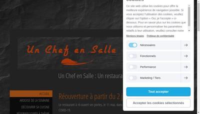 Site internet de Un Chef en Salle