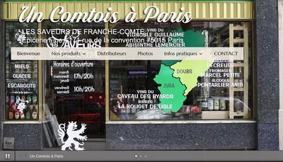 Site internet de Un Comtois a Paris