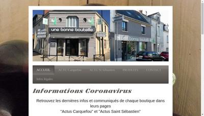 Site internet de Une Bonne Bouteille