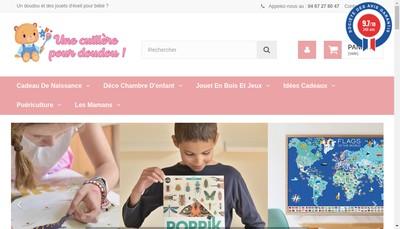Site internet de Une Cuillere pour Doudou
