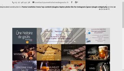 Site internet de Une Histoire de Gouts