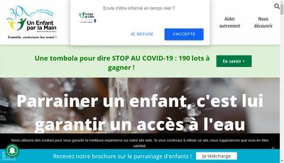 Site internet de Un Enfant par la Main