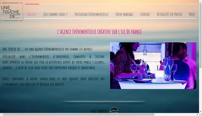 Site internet de Une Touche de