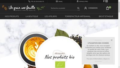 Site internet de Un Grain, une Feuille