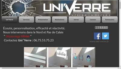 Site internet de Uni'Verre