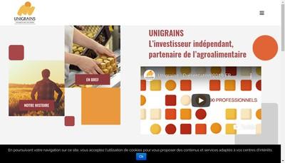 Site internet de Unigrains