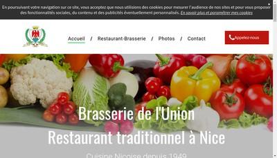 Site internet de Brasserie Restaurant l'Union