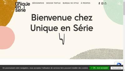 Site internet de Unique en Serie