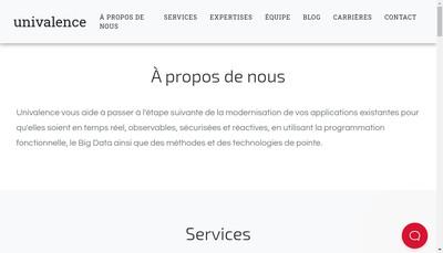 Site internet de Univalence