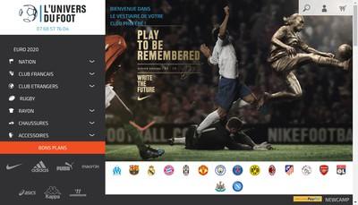 Site internet de L'Univers du Foot