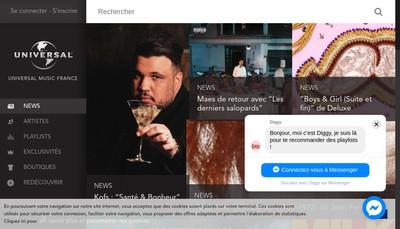 Site internet de Universal Music France Smp