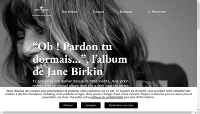 Site internet de Polydor-Decca-Deutsche Grammophon