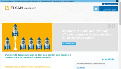 Site internet de Universite Elsan