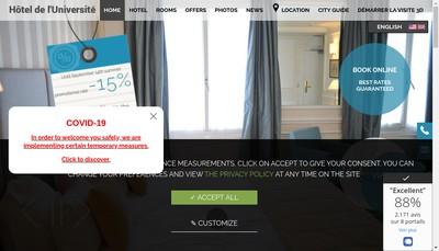Site internet de Societe Hotel de l'Universite
