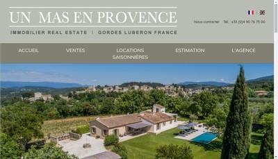 Site internet de Un Mas en Provence