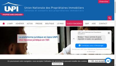 Site internet de Union Nationale Propriete Immobiliere