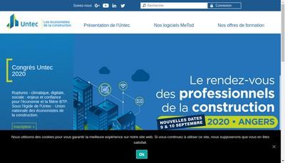 Site internet de Union Nationale des Economistes de la Construction