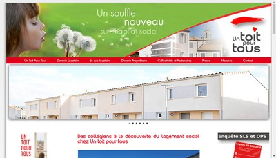Site internet de Societe HLM un Toit pour Tous
