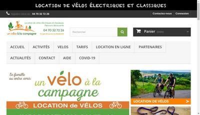 Site internet de Un Velo a la Campagne