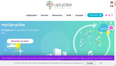 Site internet de Upcyclea