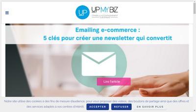 Site internet de Upmybiz
