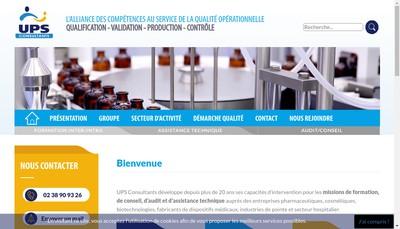 Site internet de UPS Consultant
