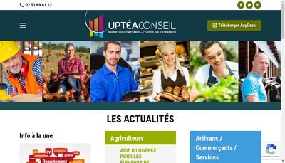 Site internet de Uptea Conseil