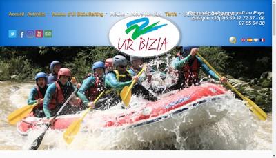 Site internet de Ur Bizia Rafting Sports d'Eaux Vives